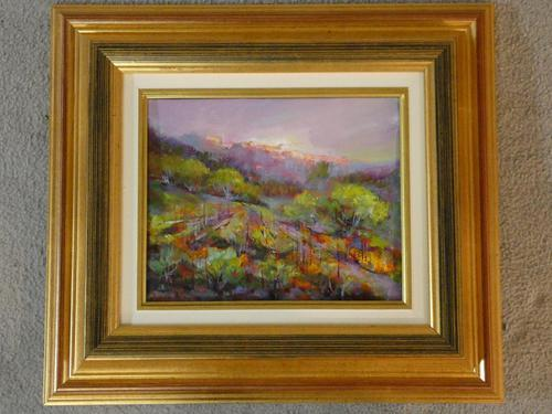 Robert Nyel (1930-2016) A Framed Oil on Canvas, Titled 'gassin (1 of 3)