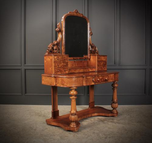 Victorian Figured Walnut Dressing Table (1 of 17)