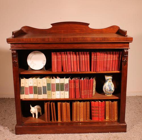Open Bookcase in Mahogany 19th Century - England (1 of 9)