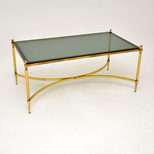 1960's Vintage Italian Brass Coffee Table (1 of 11)