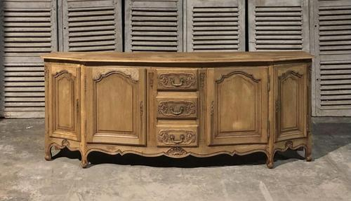 Bow Front French Bleached Oak Enfilade (1 of 11)