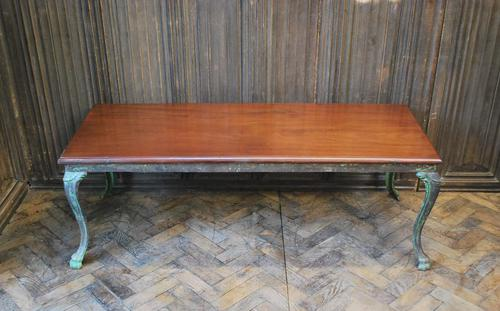 Antique French iron coffee table (1 of 6)