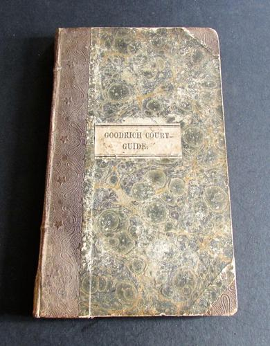 1844 The Goodrich Court Guide by Charles Nash & A Lecture  on Jews  by Samuel  Meyrick (1 of 5)