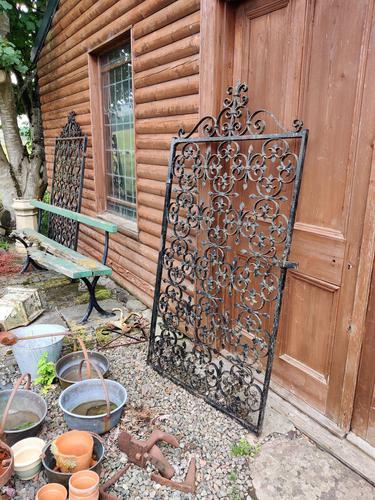Large Iron Garden Gate (1 of 7)