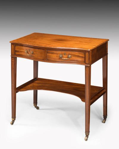 George III Period Mahogany Side Table of Very Small Proportions (1 of 5)