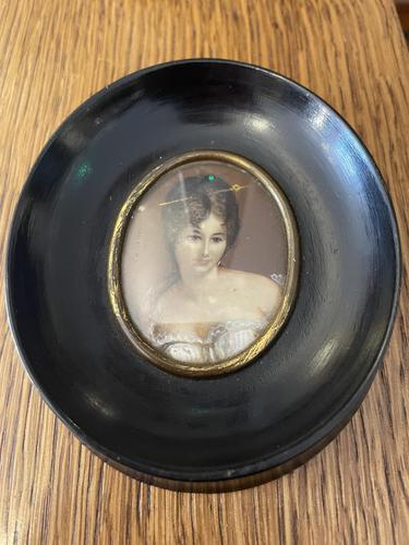 Victorian Hand Painted Miniature of Lady Signed (1 of 3)