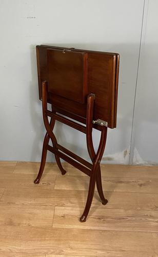Antique Mahogany Folding Games Coaching Table (1 of 10)