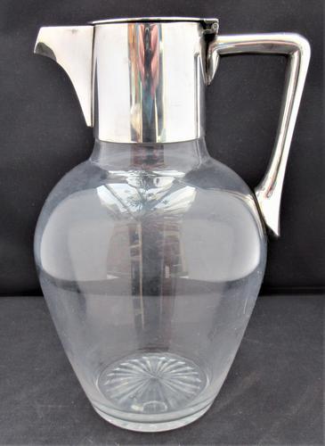 Christopher Dresser for Hukin & Heath, Silver Plate & Glass Claret Jug c.1880 (1 of 8)