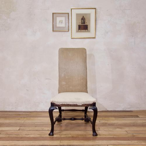 18th Century Ebonised & Upholstered Queen Anne Side Chair (1 of 13)
