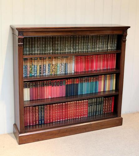 Late 19th Century Open Mahogany Bookcase (1 of 10)