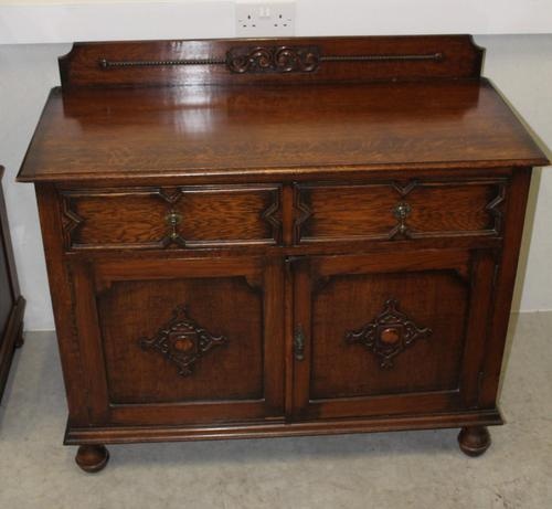1920's Sideboard / Cupboard with Drawers (1 of 4)