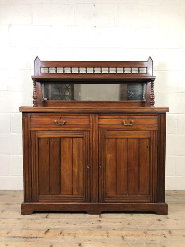 Antique Mahogany Sideboard with Mirror Back (1 of 13)