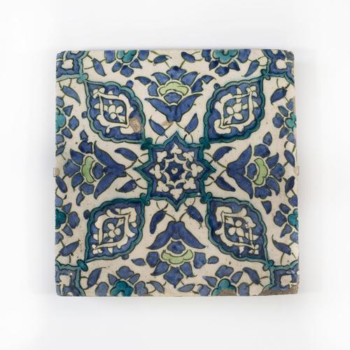 Ottoman Empire Damascus Square Tile late 16th Century (1 of 4)