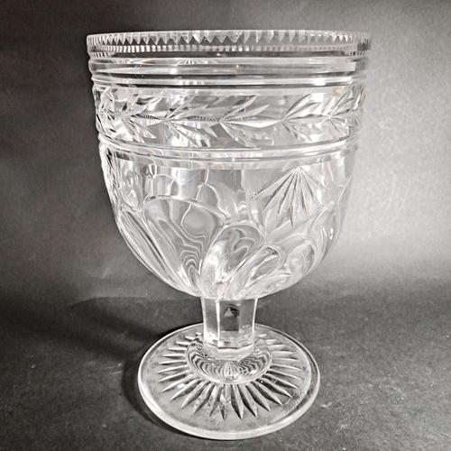 Large 19th Century Cut Glass Vase (1 of 5)