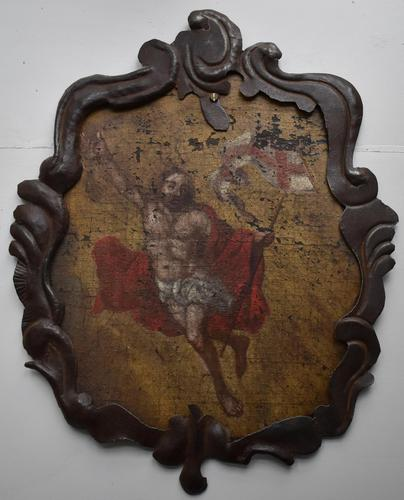 17th Century Christ Ascending Plaque Italian / French (1 of 8)