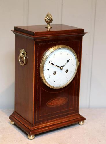 Mahogany Inlaid Mantel Clock (1 of 10)