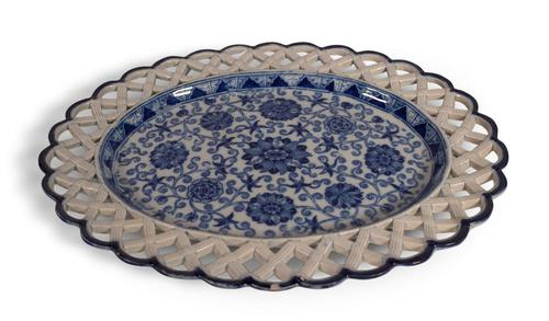 Blue and White Oval Plate (1 of 5)