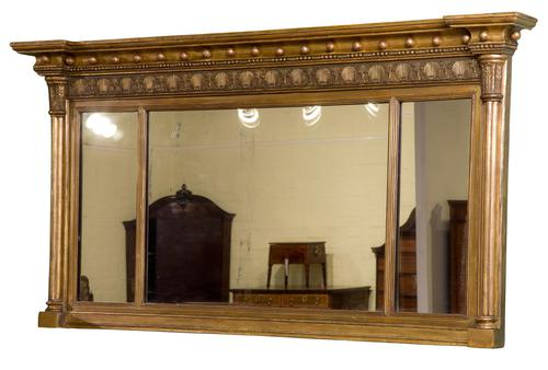 Regency Gilt Framed Over Mantel Mirror (1 of 5)