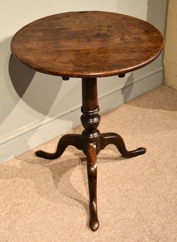 18th Century Oak Tripod Table (1 of 5)