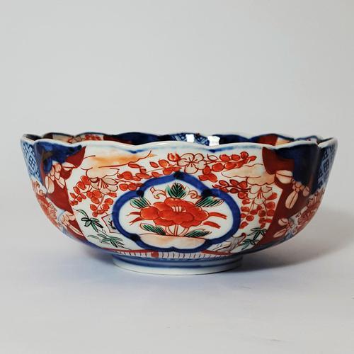 Late 19th Century Japanese Imari Small Scalloped Bowl (1 of 6)