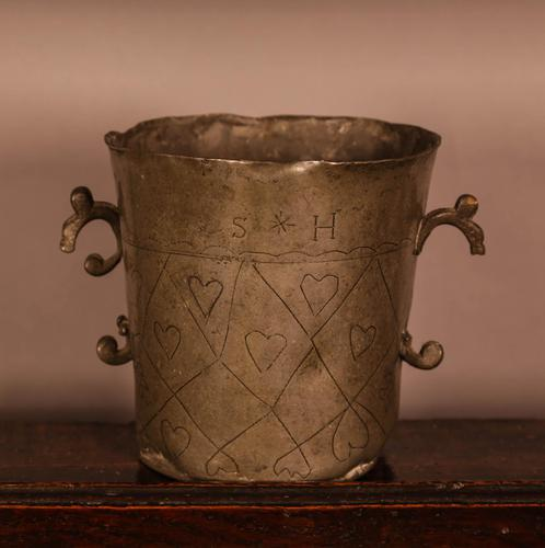 18th Century Pewter Two Handled Cup (1 of 5)