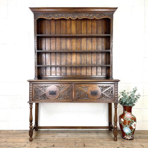 Decorative Antique Carved Oak Dresser (1 of 10)