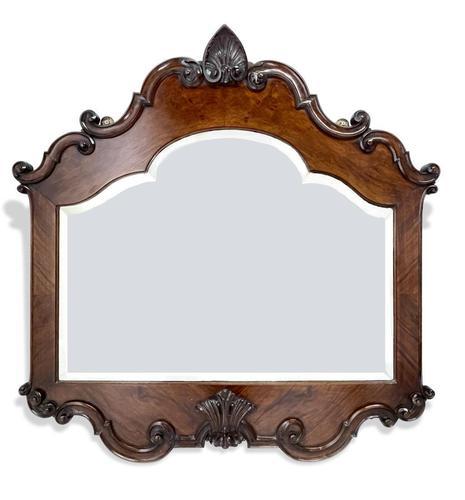 Walnut & Mahogany Mirror (1 of 4)