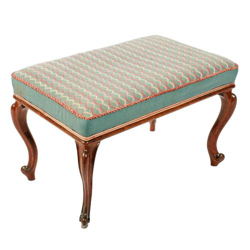 Victorian Oblong Rosewood Stool (1 of 7)