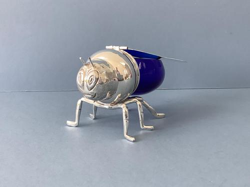 Silver Plated Novelty Bee Honey Pot (1 of 7)