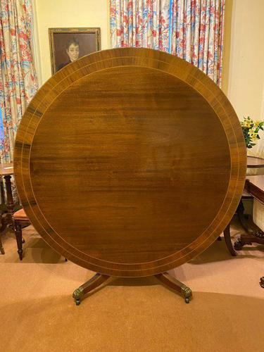 Large High-quality Circular Mahogany Tilt-top Dining Table c.1920-1930 (1 of 6)