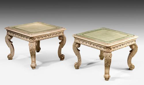 Pair of Early 20th Century Low Occasional Tables (1 of 4)