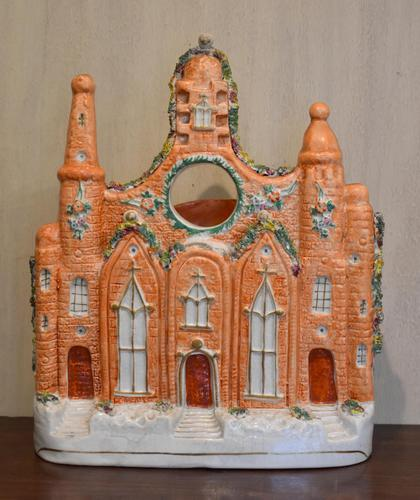 Very Large Staffordshire Flat Back Church Watch Holder (1 of 6)