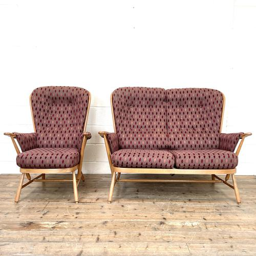 Vintage Ercol Evergreen Two Seater Sofa & Armchair (1 of 10)