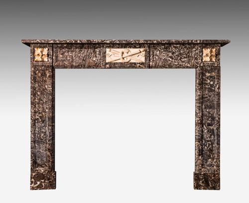 Late 19th Century Grey Marble Fireplace (1 of 6)