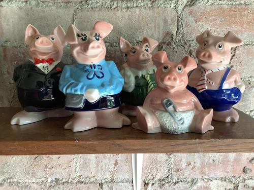 Fine Set of Pigs from the 1970's Natwest Bank Money Boxes (1 of 3)