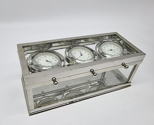 Decorative Desk or Wall Clock with Three Multi - Directional Giroscopic Clocks (1 of 8)