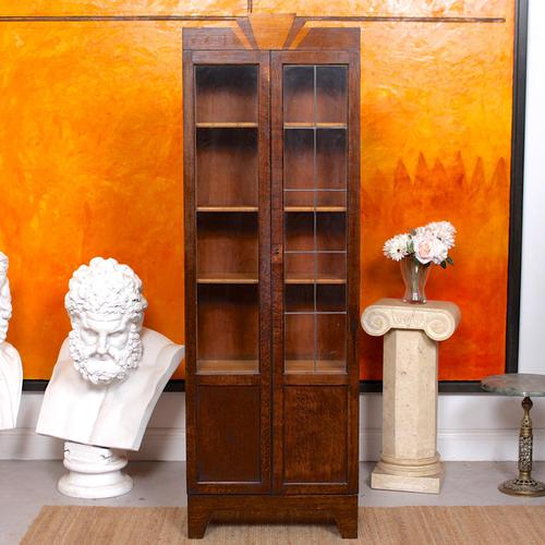 Art Deco Oak Glazed Bookcase (1 of 11)