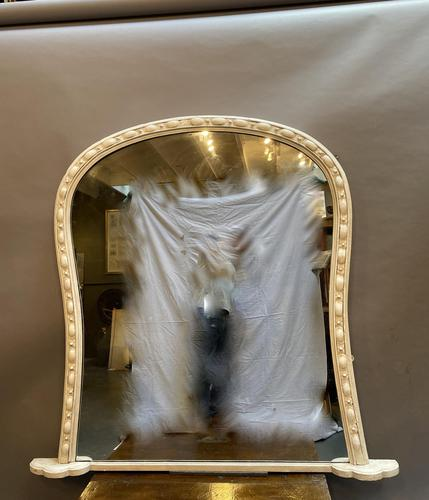 Large 19th Century Painted Overmantle Mirror (1 of 10)