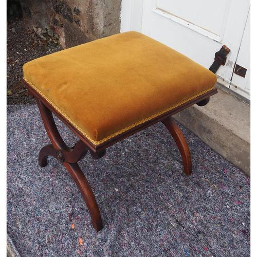 Victorian Rosewood x-frame Stool (1 of 6)