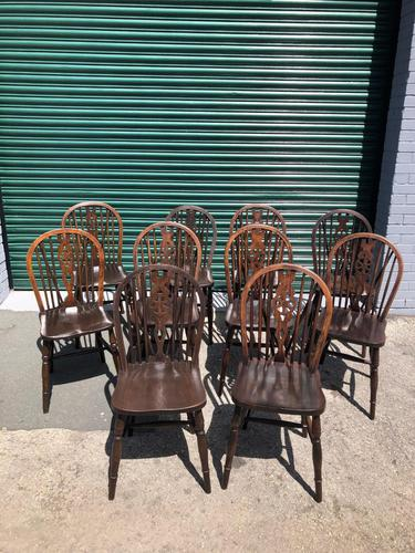 Harlequin Set 10 Ash & Elm Kitchen Chairs (1 of 10)