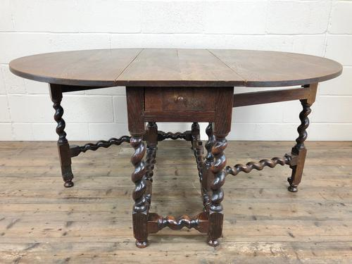 Antique 18th Century Welsh Oak Gateleg Table, Folding Table, Dining Table or Kitchen Table (1 of 12)