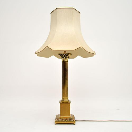 Neoclassical Style Brass Table Lamp (1 of 8)