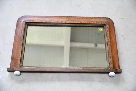 Victorian Inlaid Overmantle Mirror (1 of 12)