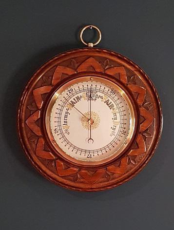 Antique Polished Walnut Barometer (1 of 5)