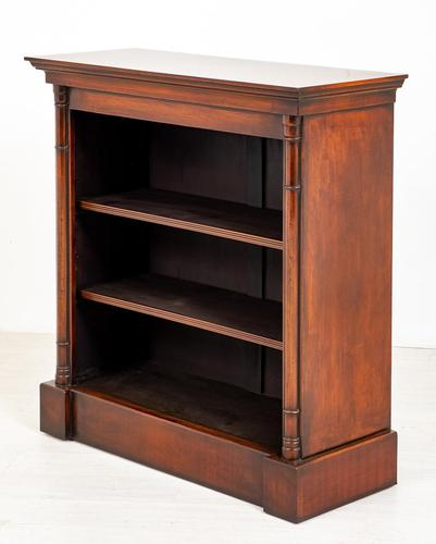 Mahogany Open Bookcase with adjustable shelves (1 of 8)