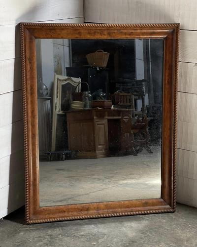 19th Century French Burr Walnut Wall Mirror (1 of 19)