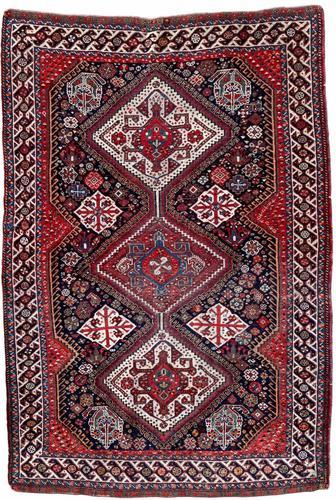 Antique Qashqai Rug 1.47m x 1.04m (1 of 17)