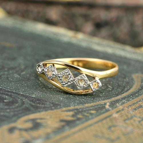 The Antique Art Deco Five Chip Diamond Ring (1 of 4)