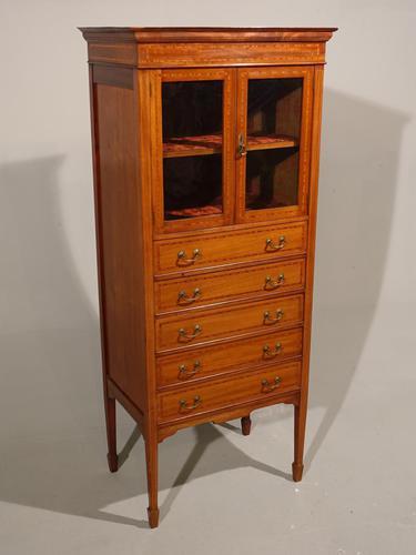 A Good Quality Edwardian Mahogany Music Cabinet (1 of 6)