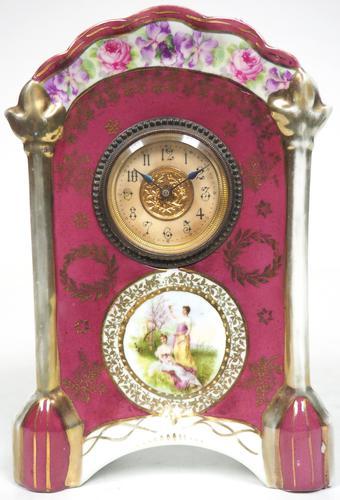 Fantastic Antique French / German Sevres Mantel Clock (1 of 5)